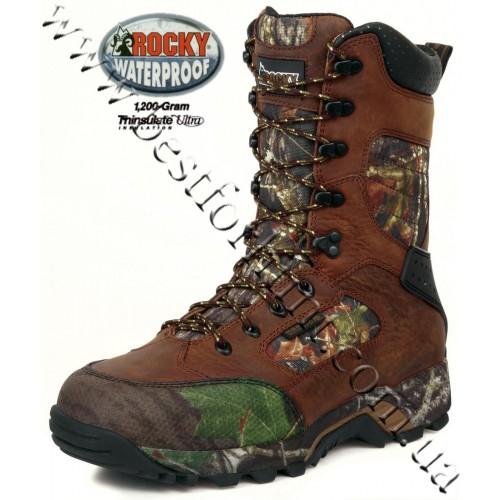 "Rocky® 10"" Mobilite™ 1,200-gram Insulated Waterproof Hunting Boots 7385 Mossy Oak® Break-Up®"