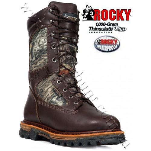 """Rocky® 10"""" RidgeStalker Waterproof 1,000 grams Insulated Hunting Boots Mossy Oak® Break-Up®"""