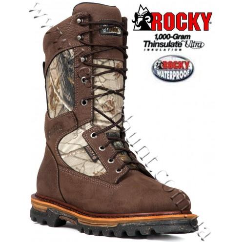 "Rocky® 10"" RidgeStalker Waterproof 600 grams Insulated Hunting Boots Realtree AP®"