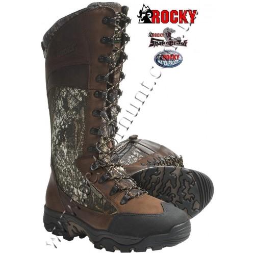 """Rocky® 15"""" Classic Lynx Uninsulated Waterproof Side Zip Snake Hunting Boots 7534 Mossy Oak® Break-Up®"""