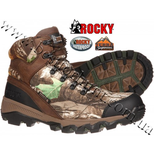 "Rocky® 6"" AdaptaGrip Waterproof Outdoor Boot RKYS154 Realtree Xtra® Green"