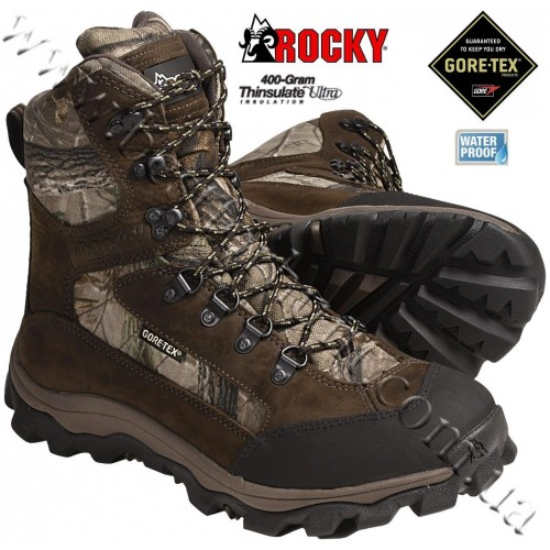 """Rocky® 8"""" 400-gram Insulated Lynx Hunting Boots Realtree AP®"""