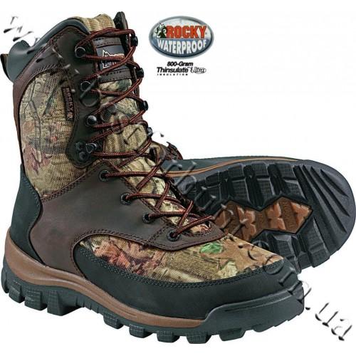 """Rocky® 8"""" Core 800-gram Insulated Waterproof Hunting Boots 4755 Mossy Oak® Break-Up® Infinity™"""