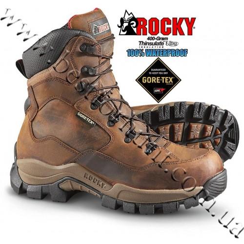 """Rocky® 8"""" DeerStalker™ XCS™ 400-gram Insulated Waterproof GORE-TEX® Hunting Boots Brown"""