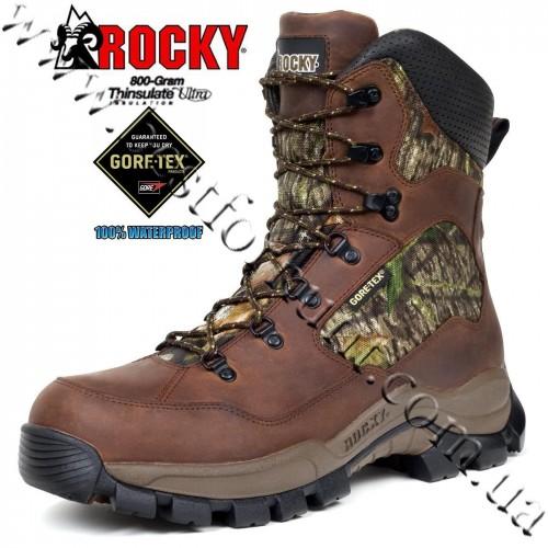 "Rocky® 8"" DeerStalker™ XCS™ 800-gram Insulated Waterproof Gore-Tex® Hunting Boots 7419 Mossy Oak® Break-Up®"