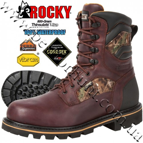 """Rocky® 8"""" Governor™ GORE-TEX® Waterproof 800-gram Insulated Hunting Boots RKYO 001 Realtree Xtra®"""
