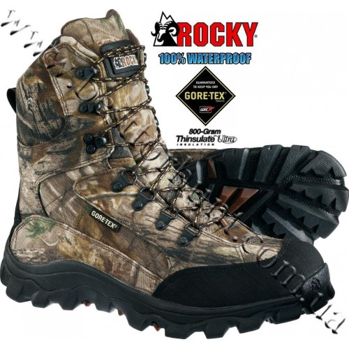 """Rocky® 8"""" Lynx 800-gram Insulated Hunting Boots Realtree AP®"""