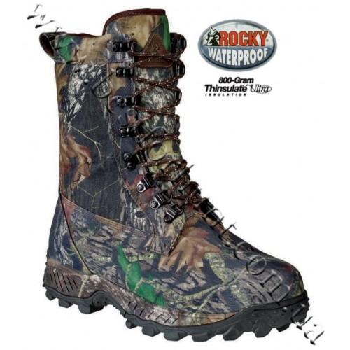 """Rocky® 8"""" Prowler 800-gram Insulated Hunting Boots Mossy Oak® Break-Up®"""