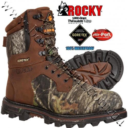 "Rocky® 9"" BearClaw 3D™ 1,000 grams Insulated Gore-Tex® Waterproof Hunting Boots 9275 Mossy Oak® Break-Up®"