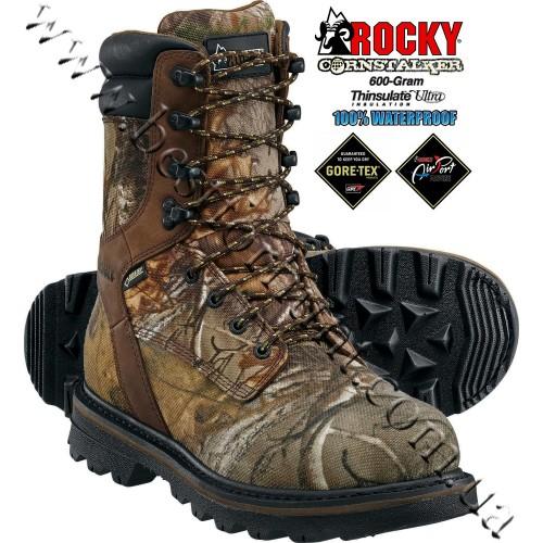 "Rocky® 9"" CornStalker™ GORE-TEX® Waterproof 600-gram Insulated Hunting Boots RKYS085 Realtree Xtra®"