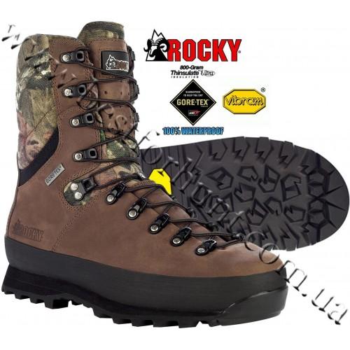 """Rocky® 9"""" PeakStalker™ 800-gram Insulated GTX® Waterproof Hunting Boots 4760 Mossy Oak® Break-Up® Infinity™"""