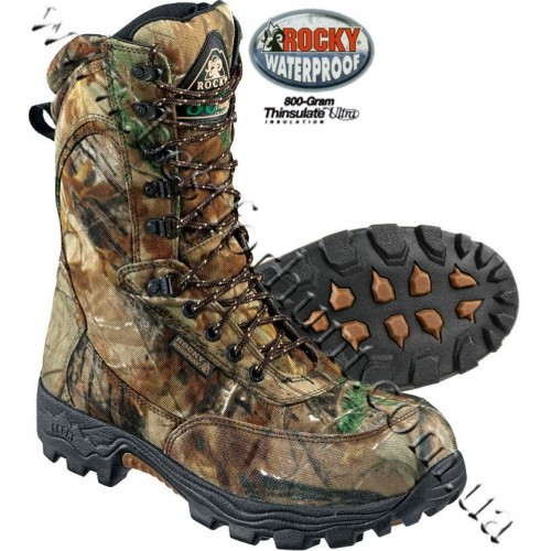 """Rocky® 9"""" Prowler Elite 800-gram Insulated Hunting Boots Realtree AP®"""