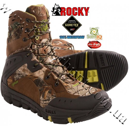 Rocky® Athletic Mobility Maxprotect Level 1 Gore-Tex® Waterproof Ultralight SIQ Hunting Boots 5253 Realtree Xtra® Green