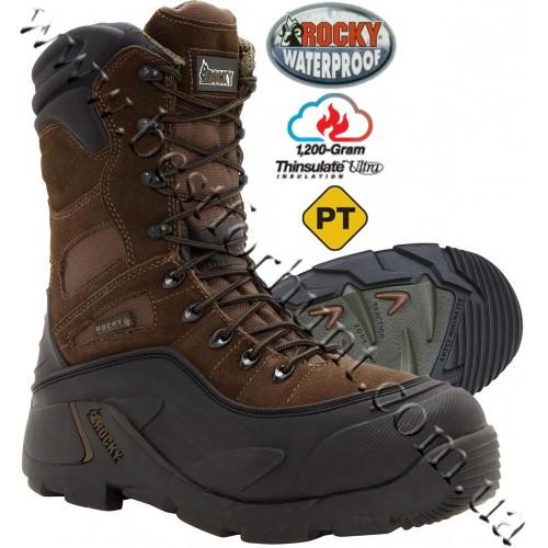 Rocky® Blizzard Stalker™ Steel Toe 1'200 gram Insulated Waterproof Boots FQ7465 Brown