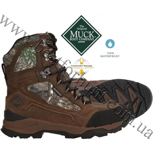 """The Original Muck Boot Company® Summit Lace 8"""" Hunting Boots Realtree Edge™"""