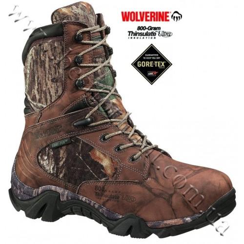 """Wolverine® 9"""" Impala 800-Gram Boots Mossy Oak® Break-Up®"""