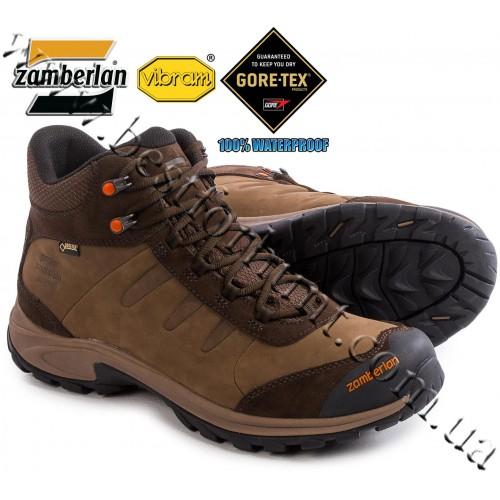 Zamberlan® Ridge Mid Gore-Tex® RR Waterproof Hiking Boots Dark Brown