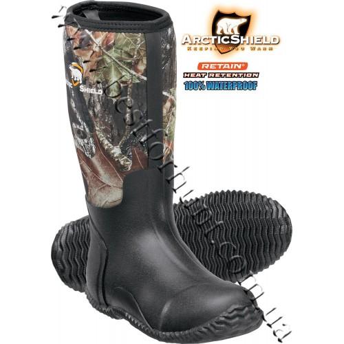 ArcticShield® 7mm Neoprene Rubber Boots Mossy Oak® Break-Up®