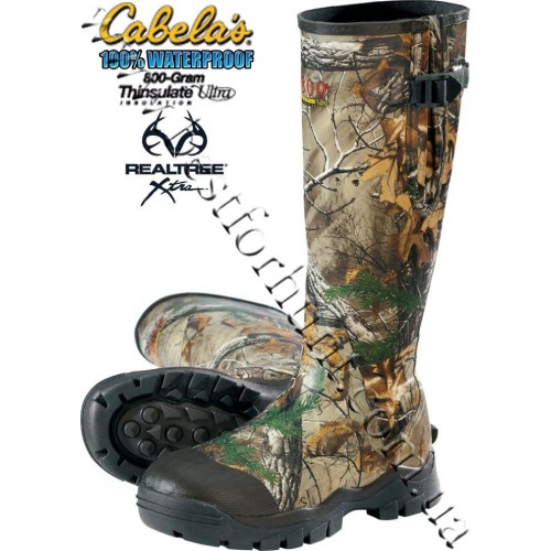 Cabela's Comfort Trac™ 800-gram Insulated Rubber Boots Realtree Xtra®