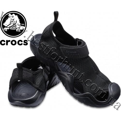 Crocs™ Swiftwater Sandal Black-Black