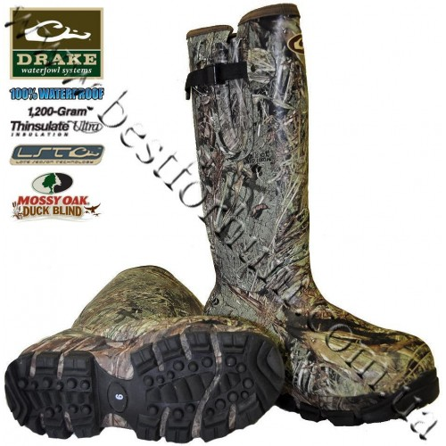 Drake Waterfowl LST 1,200-gram Insulated Knee High Mudder™ Boots Mossy Oak® Duck Blind®
