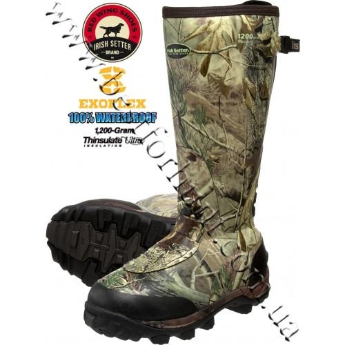 "Irish Setter RutMaster 17"" 1,200-gram Insulated Rubber Boots 4874 Realtree AP®"