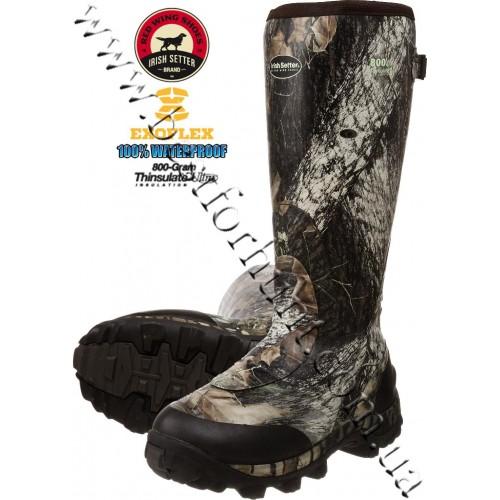 "Irish Setter RutMaster 17"" 800-gram Insulated Rubber Boots 4873 Mossy Oak® Break-Up®"