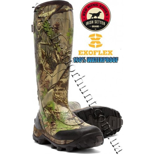"""Irish Setter RutMaster 17"""" Uninsulated Rubber Boots 4870 Realtree APG®"""