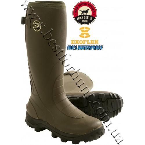 "Irish Setter RutMaster 17"" Uninsulated Rubber Boots 4875 Green"