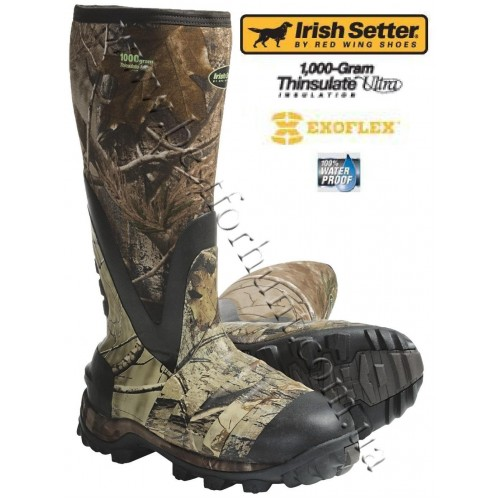 "Irish Setter SwampGhost 16"" 1,000 gram Insulated Neoprene Rubber Boots 4853 Realtree AP®"