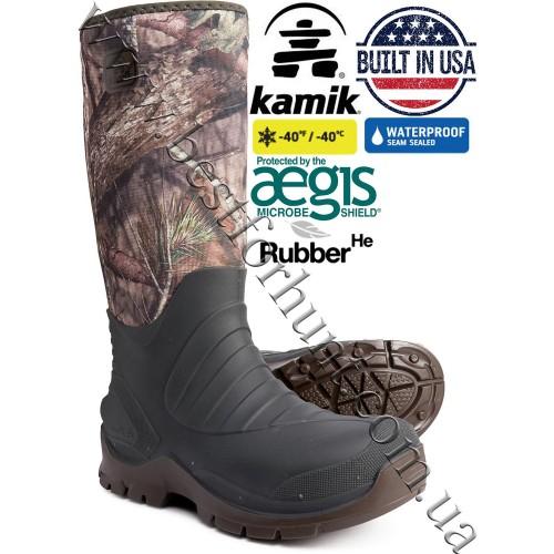 Kamik® Bushman™ Waterproof Rubber Hunting Boots Mossy Oak® Break-Up® COUNTRY™