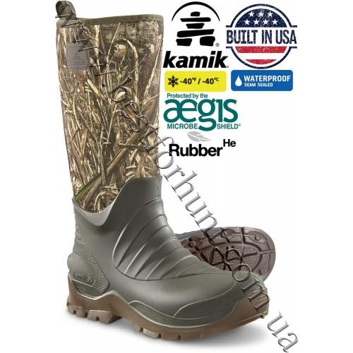 Kamik® Bushman™ Waterproof Rubber Hunting Boots Realtree MAX-5®