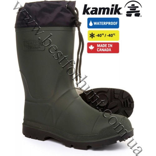 Kamik® Grippers Waterproof Insulated Rubber Boots Khaki