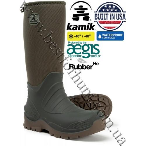 Kamik® Huntsman™ Waterproof Rubber Hunting Boots Olive