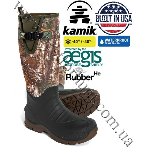 Kamik® Trailman™ Waterproof Rubber Hunting Boots Realtree Xtra®