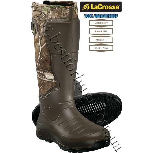 "LaCrosse® 18"" AeroHead™ 3.5mm neoprene Rubber Boots 716031 Realtree Xtra® Green"