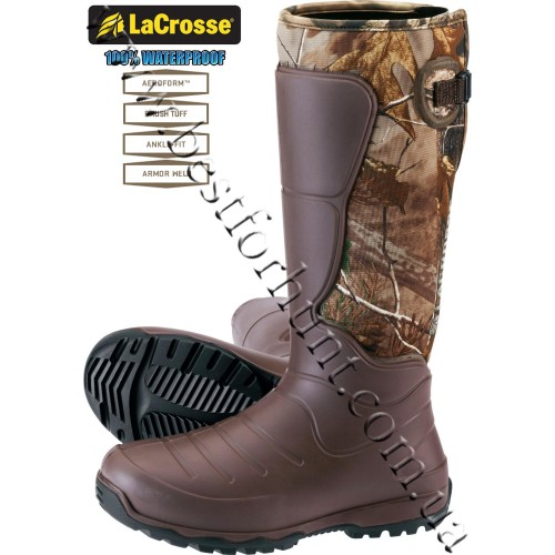 "LaCrosse® 18"" AeroHead™ 7mm neoprene Rubber Boots 716032 Realtree Xtra®"