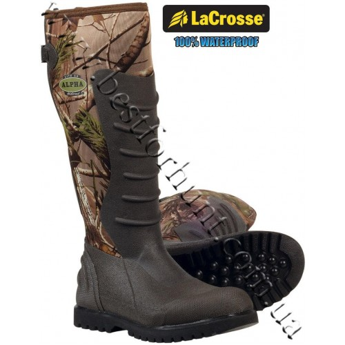 """LaCrosse® 18"""" Alpha Light Series™ 3.5mm Rubber Boot Realtree APG®"""