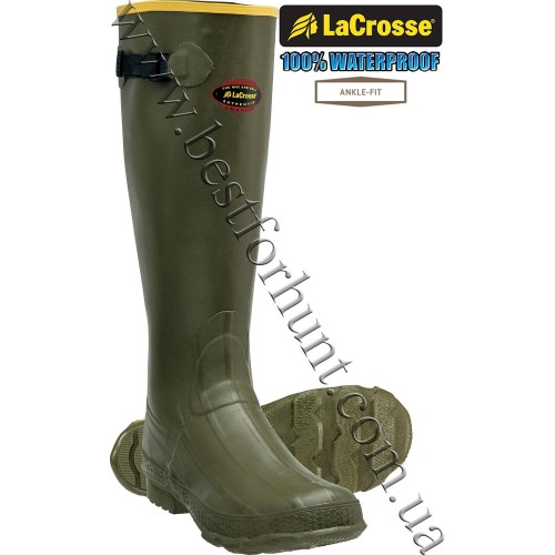 """LaCrosse® 18"""" Grange® Rubber Hunting Boots Green"""