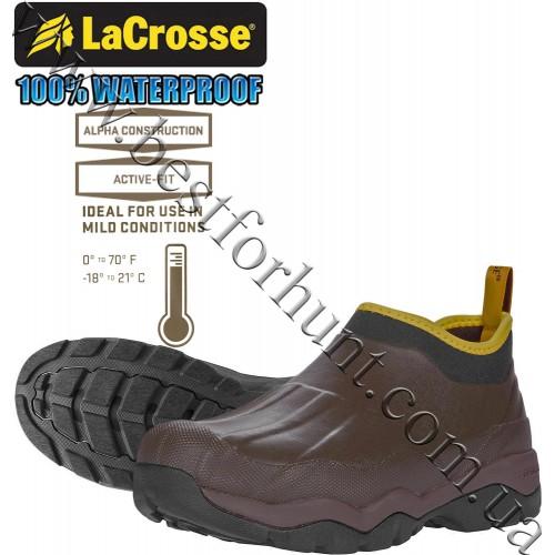 """LaCrosse® 4.5"""" Alpha Muddy Waterproof Hunting Boot 612441 Brown"""