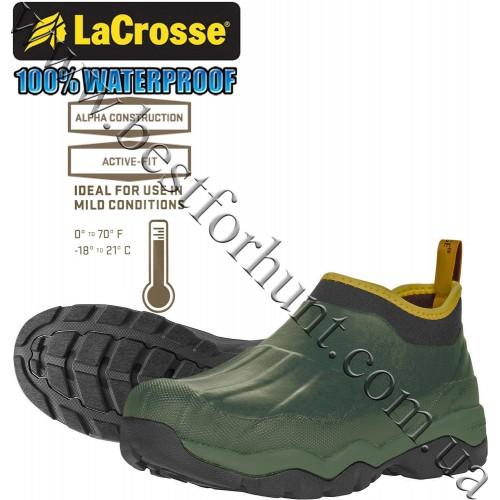 "LaCrosse® 4.5"" Alpha Muddy Waterproof Hunting Boot 612440 Green"