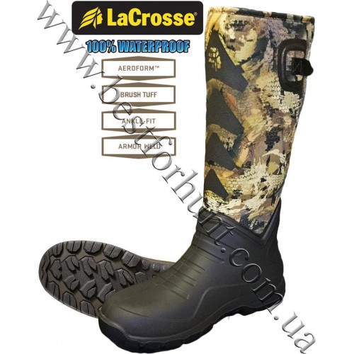 "LaCrosse® AeroHead™ Sport 16"" 3.5mm Neoprene Rubber Hunting Boots 340226 GORE™ OPTIFADE™ Concealment Waterfowl Marsh"