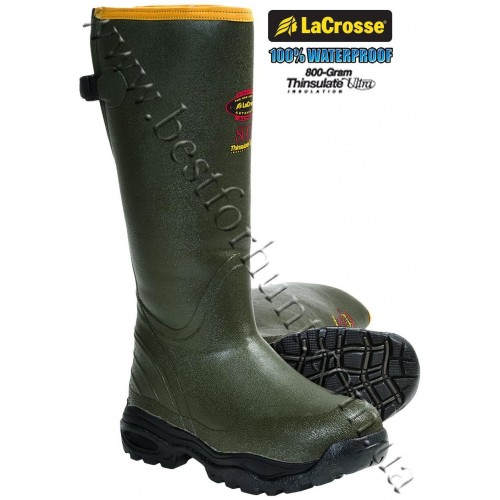 LaCrosse® AlphaBurly™ Sport 800-gram Insulated Rubber Hunting Boots Forest Green