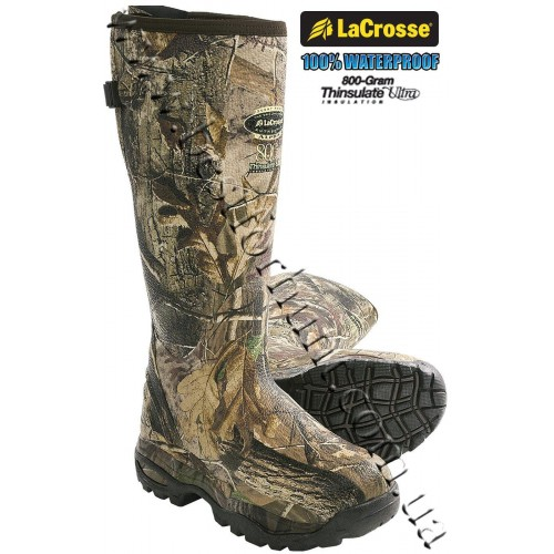 LaCrosse® AlphaBurly™ Sport 800-gram Insulated Rubber Hunting Boots Realtree AP®