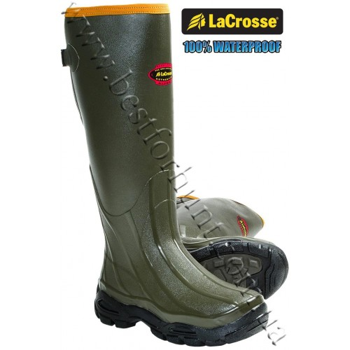 LaCrosse® AlphaBurly™ Sport Uninsulated Rubber Hunting Boots Forest Green