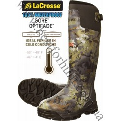 """LaCrosse® Alphaburly Pro™ 18"""" 800-gram Insulated Hunting Boots 376014 GORE™ OPTIFADE™ Concealment Waterfowl Timber"""