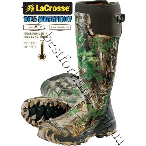 "LaCrosse® Alphaburly Pro™ 18"" Uninsulated Hunting Boots 376005 Realtree Xtra® Green"