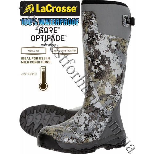 """LaCrosse® Alphaburly Pro™ 18"""" Uninsulated Hunting Boots 376033 GORE™ OPTIFADE™ Concealment Elevated II"""