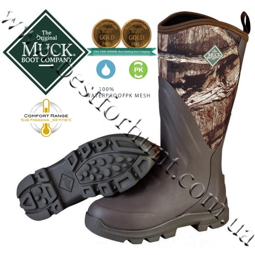 The Original Muck Boot Company® Woody Grit™ All-Terrain Hunting Boots Mossy Oak® Break-Up® Infinity™