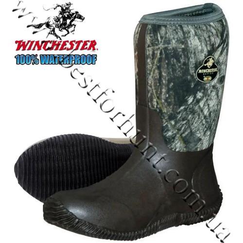 "Winchester® 12"" MudTrax™ Lite Hunting Rubber Boot Mossy Oak® Break-Up®"